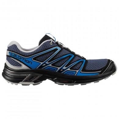 Hombre Salomon Wings Flyte 2 Trail Gris/Azul Zapatillas Running
