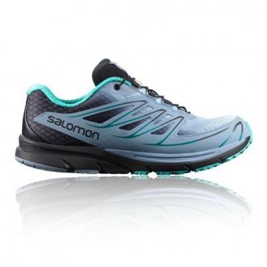 Salomon Sense Mantra 3 Trail Mujer - Azul/Negro/Verde Zapatillas De Montaña