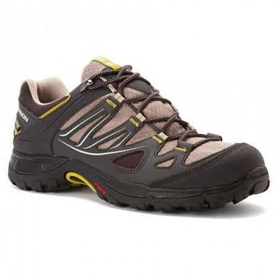 Excursionismo Zapatillas De Mujer Salomon Ellipse Gtx Usa Oscuro Verde/Marrón